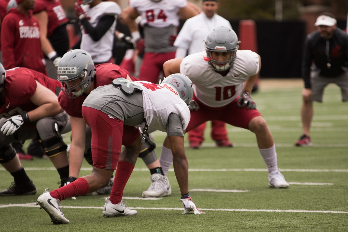 WSU Football Spring Practice No. 4 Photo Gallery